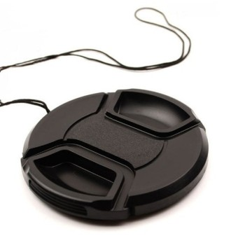 MENGS(R) 55mm Snap-On Lens Cap Cover With String / Leash For NikonCanon Sony