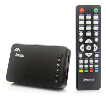 Mini 1080P Full HD Media Player w/ HDMI / USB / SD / AV / VGA Black