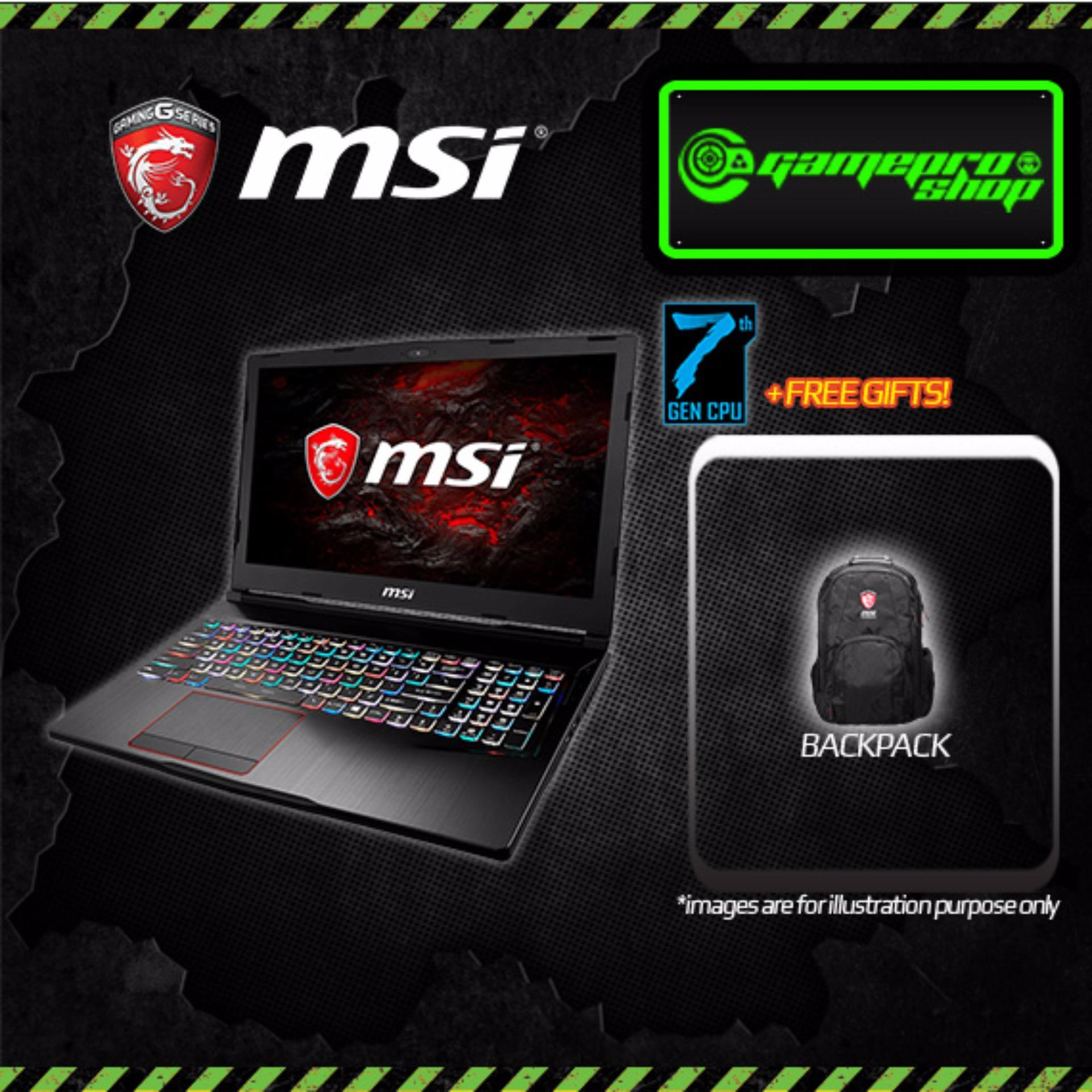 Msi Ge63vr 7rd Raider I7 7700hq 8gb Gtx1050ti 4gb 156 Gaming Ge63 Rgb 8750h 16gb 256gb 1tb Gtx1070 W10 Fhd Laptop