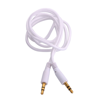 New 3.5mm Jack AUX Auxiliary Cord Male to Male Stereo Audio Cable White