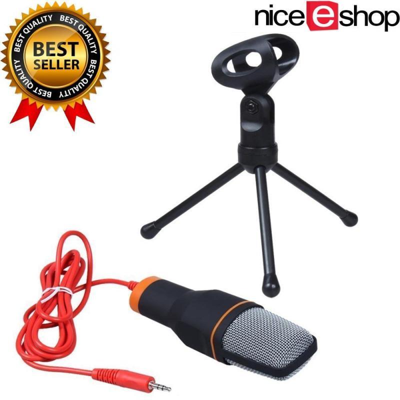 niceEshop Professional Condenser Podcast Studio Sound Recording Microphone for PC Laptop (Black) Singapore