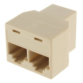OH RJ45 CAT5 Ethernet Cable LAN Port 1 to 2 Socket Splitter Connector Adapter
