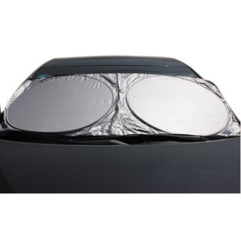 Portable Car Front Sun Protection Shade Visor Double CirclesSunshade