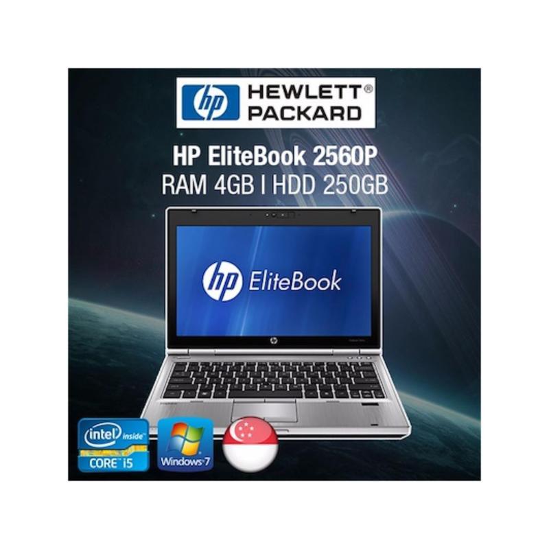 Refurbished HP EliteBook 2560p 12.5in Laptop - i5 / 4GB RAM / 250GB HDD / Eng KB / W7 / 1mth Warranty
