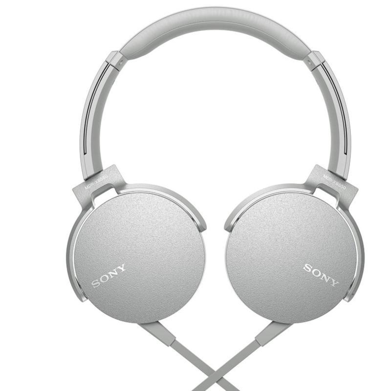 Sony Singapore MDR-XB550AP Extra Bass Headphone (White) Singapore