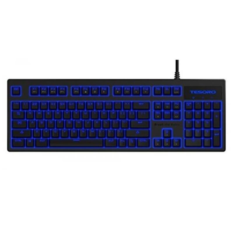 Tesoro Blue Mechanical Switch Blue LED Backlit Illuminated Mechanical Gaming Keyboard ) - intl Singapore