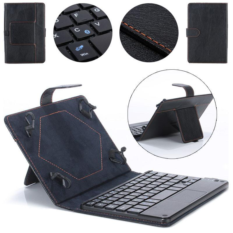 Universal 8-9 inch Bluetooth Keyboard Leather Stand Case For PC Tablet - intl Singapore