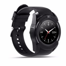 V8 Smart Watch Clock With Sim Tf Card Slot Bluetooth For Android And Ios - Intl