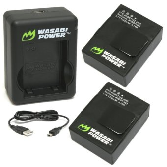 Wasabi Power Battery Set for GoPro Hero 3/3+