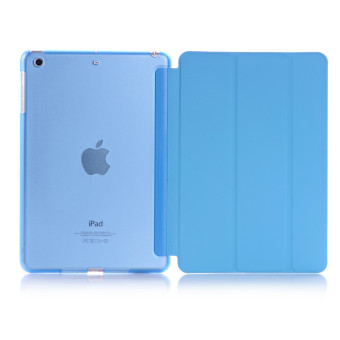Welink Ultra Slim Smart Cover PU Leather Case for Apple iPad Mini 4(Blue)