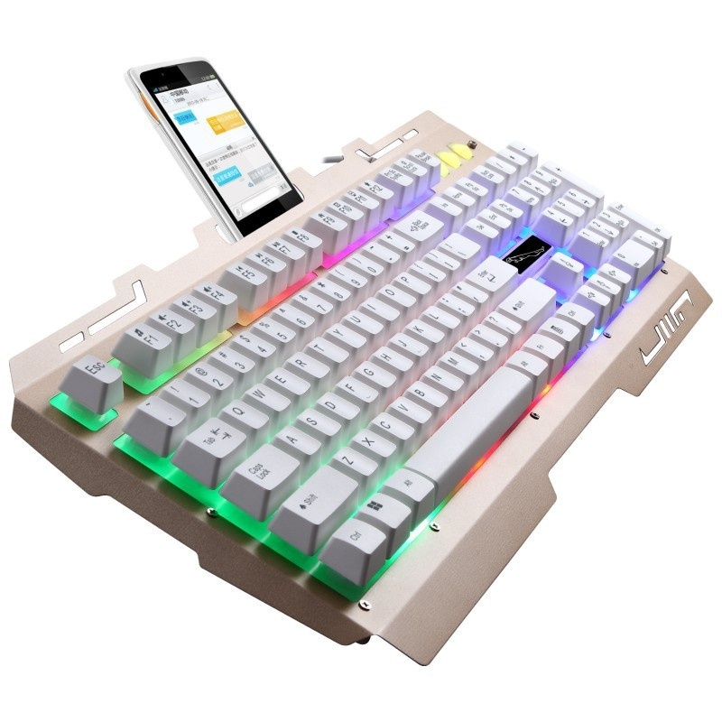 Wired Laptops PC Luminescent Backlit Gaming Keyboard - intl Singapore