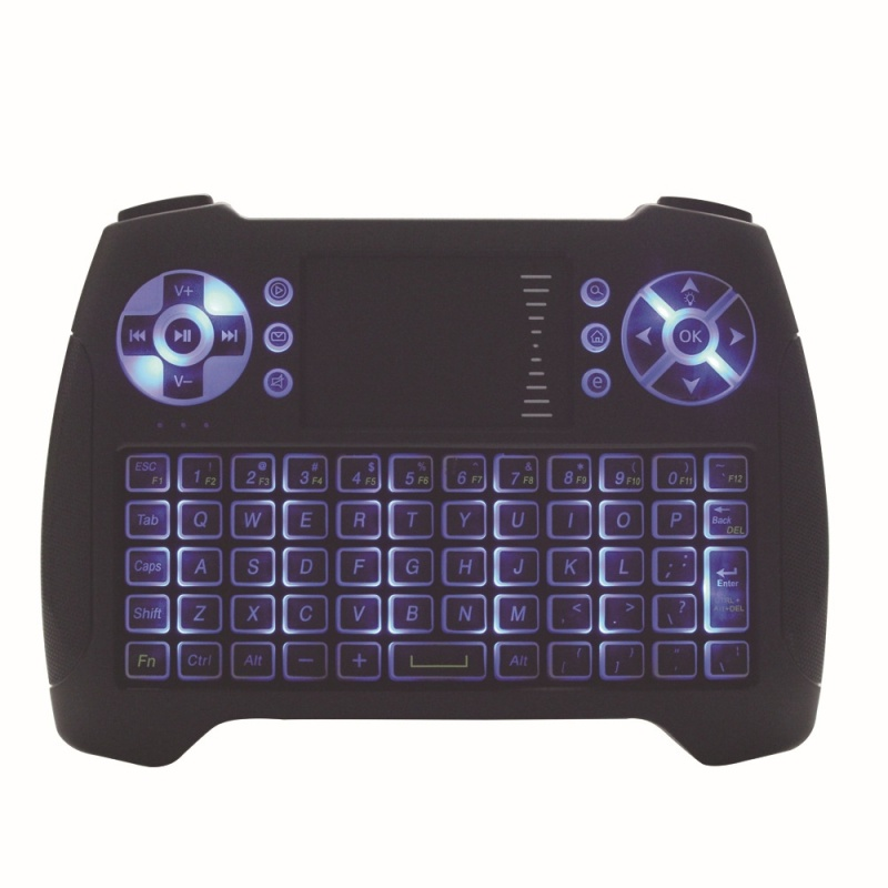 Wireless 2.4g Mini Keyboard Remote Control with Touch Screen Wireless Backlight Mouse Keyboard - intl Singapore