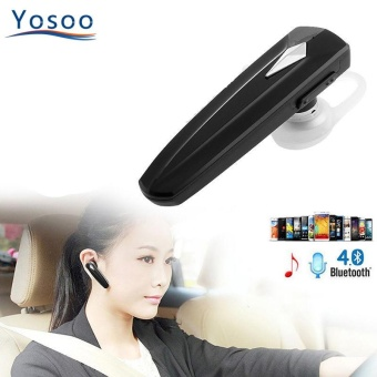 YOSOO Wireless Bluetooth Sports Earpiece With Hook Black - intl