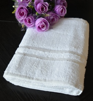 100% Cotton Soft Thick Bath Towel - White