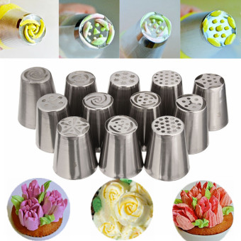 New Cake Decorating Tips From Russia : 12pc New Cake Decorating Russian Tulip Flower Icing Piping ...
