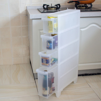 14cm plastic transparent with a pulley cabinet drawer storage cabinets