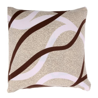 1pc Elastic Soft Printed Pillow Cases Cushion Cover(Beige) - intl