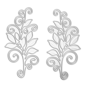 2pcs DIY Scrapbooking Die Card Metal Steel Flower Cutting Dies Stencils - intl
