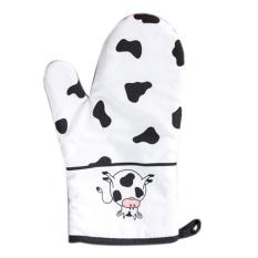 ... 360DSC 2 Pcs Set Dairy Cow Heat Resistant Cotton Glove and Insulation Pot Holder for Microwave