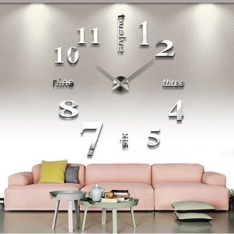 3D DIY Wall Art Clock Home Modern Decoration Mirror Living Room Home Large