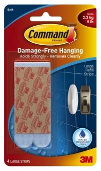3m command bath accessories water resistant strips for Bathroom ideas 3m x 3m