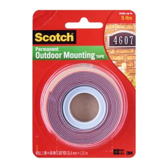 3M Scotch Mount 4011 Ss Exterior Mounting Tape 1 X 60 Inch