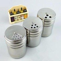 ... 360dsc Stainless Steel Seasoning Container Condiment Pot Salt Salt Sugar Pepper Storage Organizer for Roasting Sauting