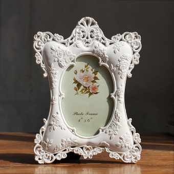 6-inch photo frame European creative picture frame wedding photoframe pastoral resin Photo Frame roses creative Photo Frame