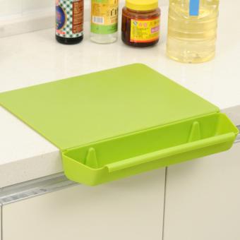 anti-bacterial chopping board/chopping block with food slot