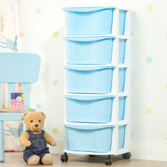 Baobao bathroom storage cabinet Toy storage box drawer storage cabinets