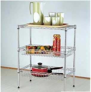 Basket metal storage rack kitchen shelf