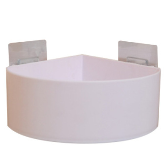 Bathroom punched suction wall-shelf