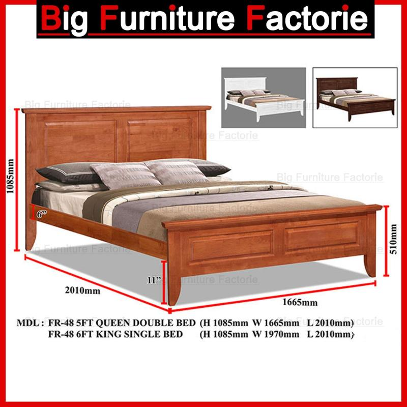 BFF-48-WB Solid Wooden Bed
