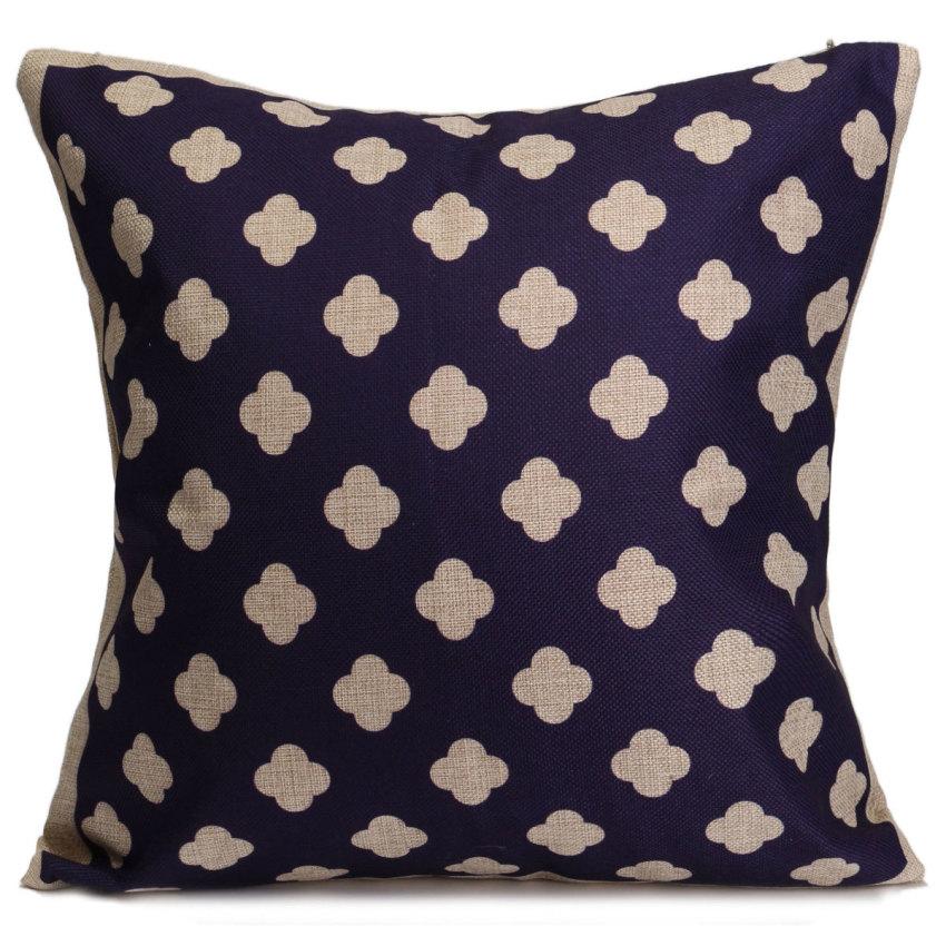 Blue Linen Throw Pillows : Bluelans Flower Cotton Linen Throw Pillow Case Cushion Cover Home Decor Blue Lazada Singapore
