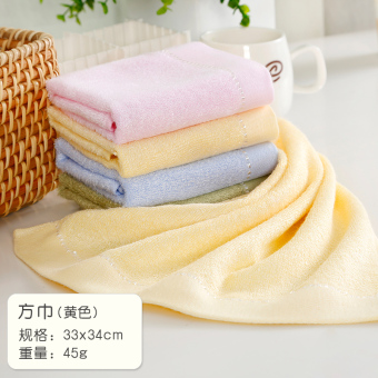Cotton absorbent face home bamboo square towel bamboo fiber towel