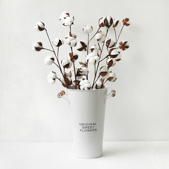 Cotton life tree industrial dried flowers real flowers