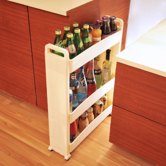 Creative kitchen shelving storage rack finishing rack seasoningrack storage rack shelf floor