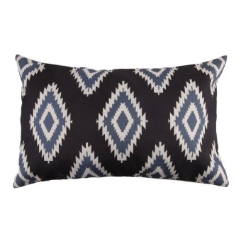 Creative Pattern Thick Cotton Pillow cases 30 x 50(Black and Blue)