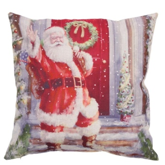 Creative Santa Claus Pattern Cotton Pillow Cover Pillow Cushion - intl