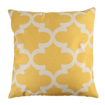 Creative Striped Pattern Cotton Pillow Cover(Yellow) (EXPORT)