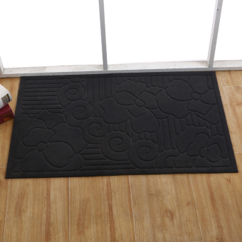 Double striped rub gray rub soil kitchen bathroom absorbent doormat