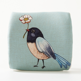 Elephant bird fresh color couple gift memory cotton spinal care Linen lumbar support office chair back cushion lumbar pillow