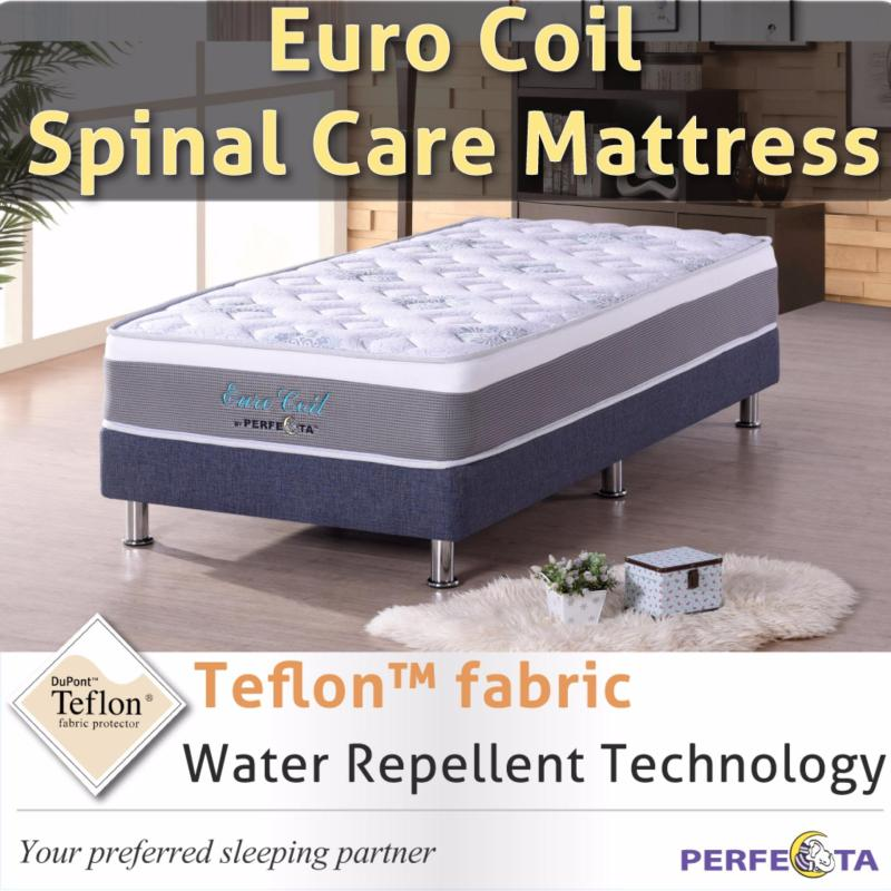 Super Single size *Euro Coil Spinal Care Mattress * with Teflon fabric * water repellent technology