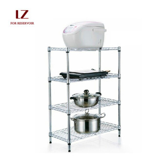 Floor kitchen stainless steel color shelf storage rack