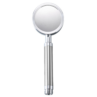 GETEK ABS Chrome Handheld Round Rain Fall Water-Saving Shower Head(Silver)