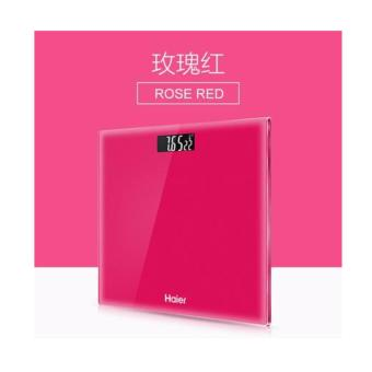 Haier Intelligent Body Weighing Scale With Temperature Function - Rose Red