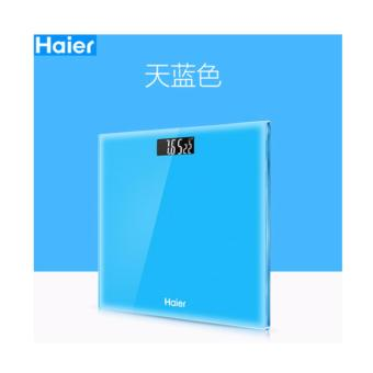 Haier Intelligent Body Weighing Scale With Temperature Function - Sky Blue