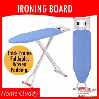 HomeBuddy Ironing Board: BLUE [THICK Frame. Foldable.Height-adjustable] ? 6000+ sold ? Stocks in Singapore ? _ HomeBuddy