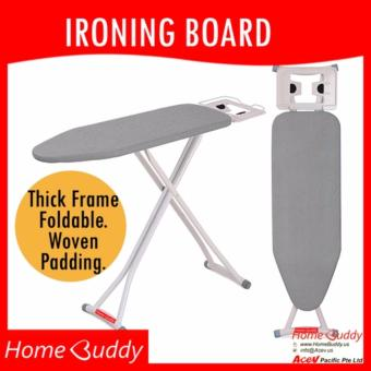 HomeBuddy Ironing Board: SILVER [THICK Frame. Foldable.Height-adjustable] ? 6000+ sold ? Stocks in Singapore ? _ HomeBuddy