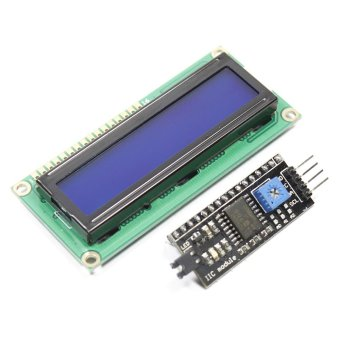 IIC / I2C + 1602 Blue Screen LCD Display Module for Arduino - intl